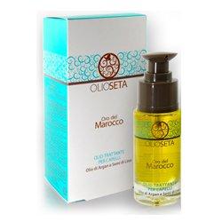 Barex Olioseta Oro del Marocco Oil Treatment for Hair - Масло-уход с маслом арганы и маслом семян льна 30 млМаски для волос<br>Придает силу и блеск тонким и светлым волосам. Восстанавливает структуру, уплотняет, облегчает расчесывание<br>