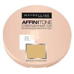 Maybelline New York  Компактная пудра выравнивающая  Affinitone 20 натурально-бежевый - МейбелинРумяна и пудра<br>Хит! Полупрозрачная матирующая пудра для сероватой кожи. Эффективно закрепляет макияж, матируя и придавая сияние коже, скрывает мелкие дефекты<br>