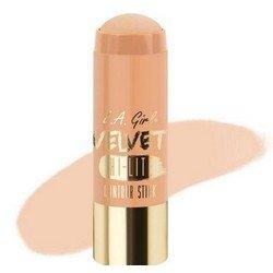 Хайлайтер-стик - L.A. Girl Velvet Contour Stick hilite CashmereКорректоры формы лица<br>Придает коже нужный оттенок и одновременно корректирует форму лица, контурируя ее. Используйте поверх основы для макияжа или тонального крема<br>