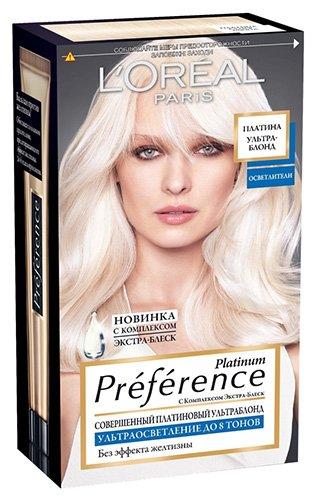 LOreal Paris  Preference Краска для волос тон 8 платина ультраблонд осветленный 40мл - Лореаль ПреферансКраски для волос<br>Последнее поколение средств для достижения совершенного ПЛАТИНОВОГО УЛЬТРАБЛОНДА - краска Preference Platinum от LOreal Paris.<br>