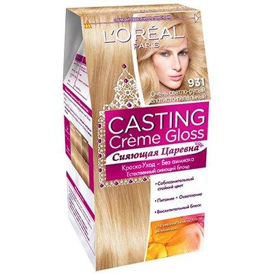 Крем-краска для волос тон 931 Очень светло-русый золотисто-пепельный - LOreal Paris  Casting Creme Gloss - ЛореальКраски для волос<br>Ухаживающая крем-краска для волос без аммиака.<br>