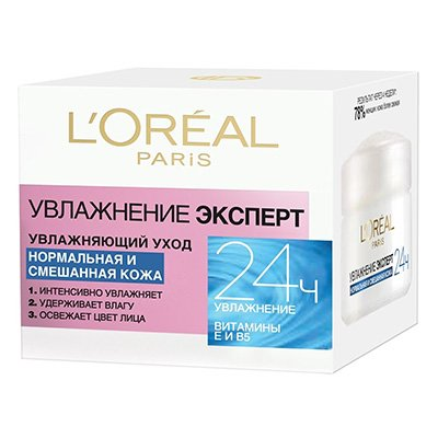 Крем для лица нормальной и смешанной кожи Увлажнение Эксперт 50 мл - LOreal Paris  Dermo-Expertise - ЛореальКремы для лица, рук и глаз<br>Тройное действие: интенсивно увлажняет, улучшает цвет лица, удерживает влагу в коже. Снимает следы усталости, выравнивает тон кожи<br>