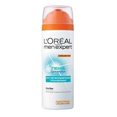 Пена для бритья Гидра сенситив для чувствительной кожи 200мл - LOreal Paris  Men Expert - ЛореальПены и гели для бритья<br>Активная Система Защиты, мощный активный успокаивающий компонент, помогает усилить естественную сопротивляемость кожи перед лицом ежедневных вредных воздействий.<br>