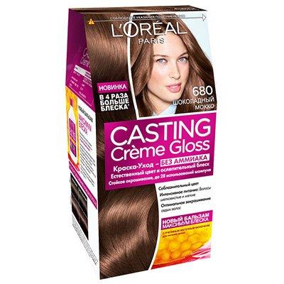 Крем-краска для волос тон 680 Шоколадный Мокко - LOreal Paris  Casting Creme Gloss - ЛореальКраски для волос<br>Кастинг крем глосс - первая краска-уход без аммиака от ЛОреаль Париж, которая заботится о Ваших волосах во время окрашивания, дарит им естественный цвет и переливающийся блеск.<br>
