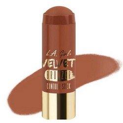 Бронзер-стик - L.A. Girl Velvet Contour Stick bronzer SuedeКорректоры формы лица<br>Придает коже нужный оттенок и одновременно корректирует форму лица, контурируя ее. Используйте поверх основы для макияжа или тонального крема<br>