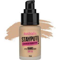 Тональное средство, 23 мл - Australis Stayput Fdn Natural FawnТональный крем<br>Для сероватой кожи.  Почти незаметен, придает коже легкое сияние, эффективно маскирует недостатки<br>