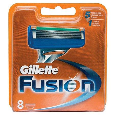 Gillette Fusion Сменные кассеты для бритья 8 штПены и гели для бритья<br>Подходят к бритвам Gillette Fusion и Gillette Fusion ProGlide/ProShield с технологией FlexBall. Технологию 5-лезвийной бреющей поверхности -  уменьшением давления на кожу достигается невероятный комфорт!<br>