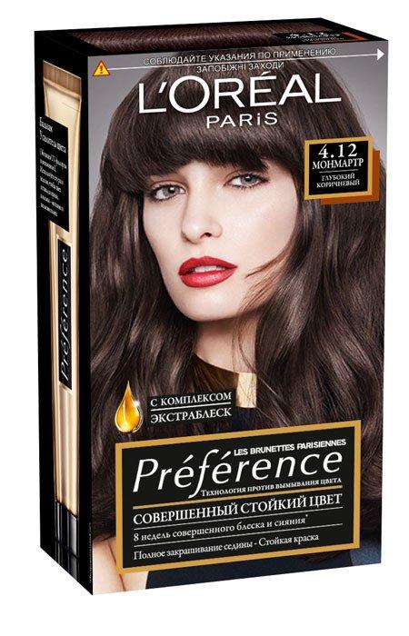 LOreal Paris  Preference Краска для волос тон 5.21 нотр-дам 40мл - Лореаль ПреферансКраски для волос<br>Преферанс – эталон цвета высокой стойкости.<br>