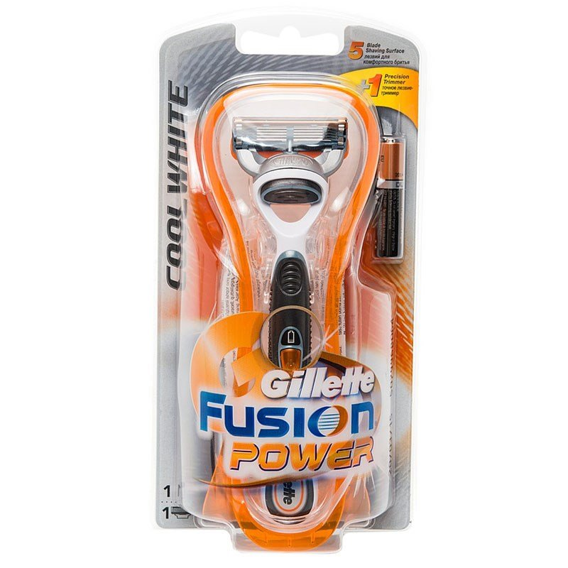 Gillette Fusion Power CoolWhite Бритва с 1 сменной кассетойПены и гели для бритья<br>Не вызывает раздражения кожи. То же самое качество, что и  в Fusion Cool White, только дополненное батарейкой для более совершенного  бритья.<br>