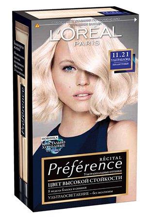LOreal Paris  Preference Краска для волос тон 11.21 ультраблонд перламутровый 40мл - Лореаль ПреферансКраски для волос<br>Легендарная краска Preference от LOreal Paris - премиальное качество окрашивания! В ее разработке приняли участие эксперты из лабораторий LOreal Paris и профессиональный колорист Кристоф Робин.<br>