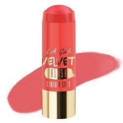 Румяна-стик - L.A. Girl Velvet Contour Stick blush Pinch MeРумяна и пудра<br>Придает коже нужный оттенок и одновременно корректирует форму лица, контурируя ее. Используйте поверх основы для макияжа или тонального крема<br>
