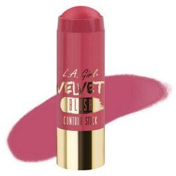 Румяна-стик - L.A. Girl Velvet Contour Stick blush PlushРумяна и пудра<br>Придает коже нужный оттенок и одновременно корректирует форму лица, контурируя ее. Используйте поверх основы для макияжа или тонального крема<br>