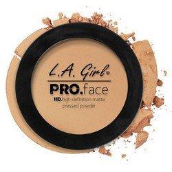 Матирующая пудра для лица - L.A. Girl Pro Face Matte Pressed Powder Soft HoneyРумяна и пудра<br>Очень тонкая почти незаметная на лице пудра надежно матирует кожу, содержит питательные вещества, увеличивает стойкость макияжа<br>
