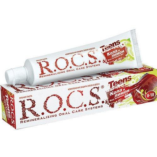 Рокс Teens Зубная паста Вкус активного дня. Кола и Лимон 74 гр - R.O.C.S.Уход за полостью рта<br>Любимый вкус колы мотивирует школьников на чистку.<br>
