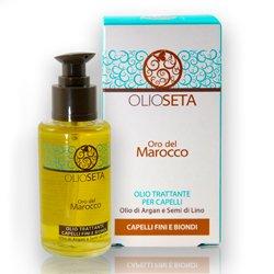 Barex Olioseta Oro del Marocco Oil Treatment Blonde-Fine Hair - Масло Блонд-уход с маслом арганы и маслом семян льна 30 млМаски для волос<br>Придает силу и блеск тонким и светлым волосам. Восстанавливает структуру, глубоко питает волосы, уплотняет, облегчает расчесывание<br>