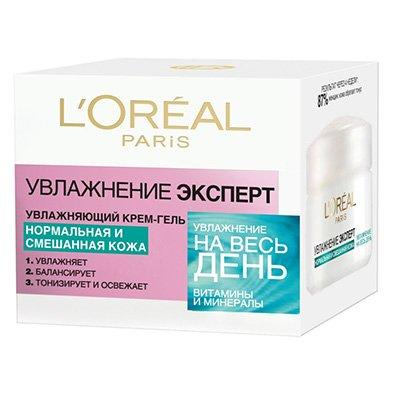 Крем-гель для лица для нормальной и смешанной кожи 50 мл - LOreal Paris  Dermo-Expertise - ЛореальКремы для лица, рук и глаз<br>Защищает от токсинов и окружающей среды, придает коже упругость и сияние. Разглаживает мелкие морщины<br>