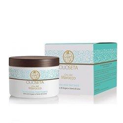 Barex Olioseta Oro del Marocco Nourishing Mask - Питательная маска с маслом арганы и маслом семян льна 250 млМаски для волос<br>Для волос после химической завивки. Восстанавливает поврежденные волосы, придавая плотность и эластичность, облегчает расчесывание и укладку.<br>