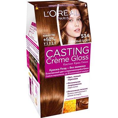 Крем-краска для волос тон 5.34 кленовый сироп - LOreal Paris  Casting Creme Gloss - ЛореальКраски для волос<br>Кастинг крем глосс - первая краска-уход без аммиака от ЛОреаль Париж, которая заботится о Ваших волосах во время окрашивания, дарит им естественный цвет и переливающийся блеск.<br>