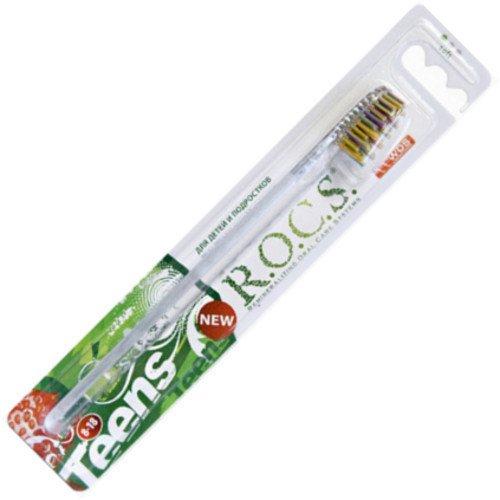 Рокс Зубная щетка  Teens. Модельная мягкая - R.O.C.S.Гигиена полости рта<br>Привлекательный яркий дизайн. Мягкая щетина.<br>