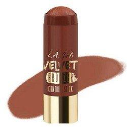 Бронзер-стик - L.A. Girl Velvet Contour Stick bronzer BrazenКорректоры формы лица<br>Придает коже нужный оттенок и одновременно корректирует форму лица, контурируя ее. Используйте поверх основы для макияжа или тонального крема<br>