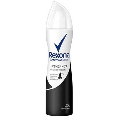 Rexona Антиперспирант аэрозоль женский W Невидимый на черном и белом 150мл - РексонаДезодоранты и парфюмерия<br>Незаметен на белых и черных вещах, обеспечивая их сохранность и долговечность. Защита от пота 24 часа<br>