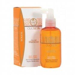 Barex Olioseta Oro del Marocco Oil Body Spray - Масло-спрей для тела с маслом арганы и маслом макадамии 200 млМаски для волос<br>Эксклюзивная формула не содержит УФ-фильтры, но предохраняет от воздействия солнечных лучей. Обеспечивает ровный здоровый загар<br>