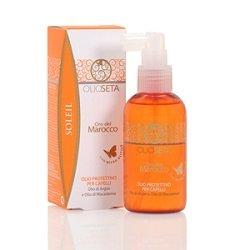 Barex Olioseta Oro del Marocco Protective Hair Oil - Защитное масло для волос с маслом арганы и маслом макадамии 150 млМаски для волос<br>Защищает окрашенные волосы от воздействия морской соли, песка, хлора и солнца. Водостойкая формула питает и насыщает волосы<br>