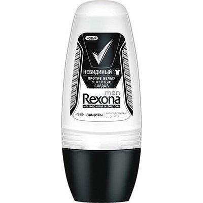Rexona Антиперспирант део-ролик мужской Невидимый на черном и белом 50мл - Рексона MENПарфюмерия и дезодоранты<br>Защищает от влаги и запаха. Не оставляет следов на Вашей одежде.<br>