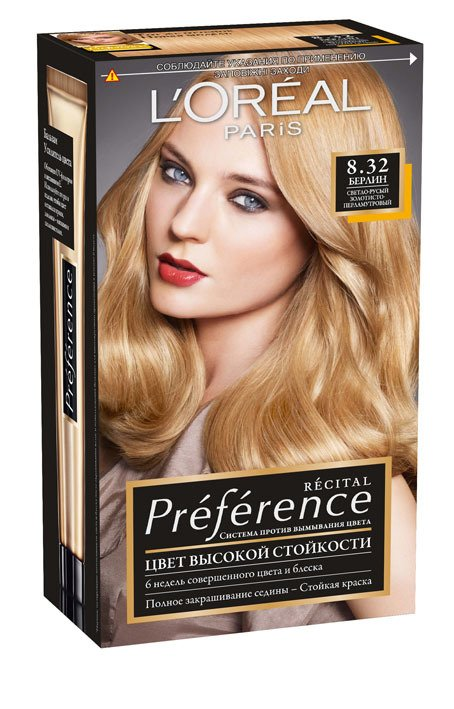 LOreal Paris  Preference Краска для волос тон 8.32 берлин 40мл - Лореаль ПреферансКраски для волос<br>Лореаль Преферанс - эталон цвета высокой стойкости. Закрашивает седые волосы, держит цвет до 30 процедур мытья волос в зависимости от шампуня.<br>