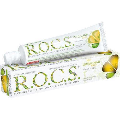 Рокс Зубная паста Мята и Лимон 74 гр - R.O.C.S.Гигиена полости рта<br>Освежающий лимонный коктейль с мятой или ледяной чай с лимонным соком - о чем еще можно мечтать жарким летним днем!<br>
