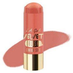 Румяна-стик - L.A. Girl Velvet Contour Stick blush GlimmerРумяна и пудра<br>Придает коже нужный оттенок и одновременно корректирует форму лица, контурируя ее. Используйте поверх основы для макияжа или тонального крема<br>