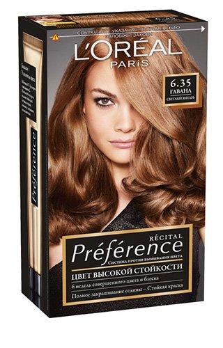 LOreal Paris  Preference Краска для волос тон 6.35 гавана 40мл - Лореаль ПреферансКраски для волос<br>Лореаль Преферанс - эталон цвета высокой стойкости. Закрашивает седые волосы, держит цвет до 30 процедур мытья волос в зависимости от шампуня.<br>