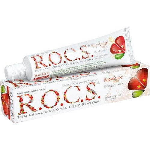 Рокс Зубная паста Грейпфрут и Мята 74 гр - R.O.C.S.Гигиена полости рта<br>Предназначена для постоянного ежедневного использования взрослыми и детьми старше 4-х лет.<br>