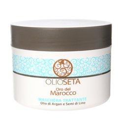 Barex Olioseta Oro del Marocco Nourishing Mask - Питательная маска с маслом арганы и маслом семян льна 500 млМаски для волос<br>Для волос после химической завивки. Восстанавливает поврежденные волосы, придавая плотность и эластичность, облегчает расчесывание и укладку.<br>