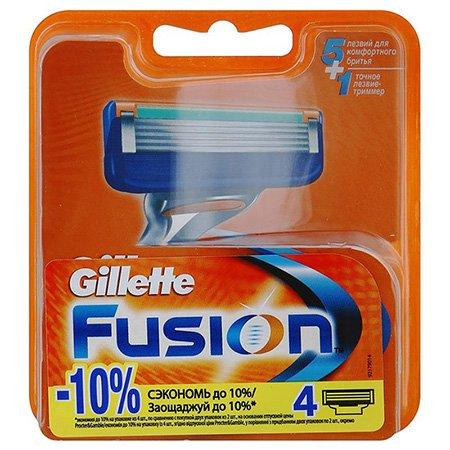 Gillette Fusion Сменные кассеты для бритья 4 штПены и гели для бритья<br>Подходят к бритвам Gillette Fusion и Gillette Fusion ProGlide/ProShield с технологией FlexBall. Технологию 5-лезвийной бреющей поверхности -  уменьшением давления на кожу достигается невероятный комфорт!<br>