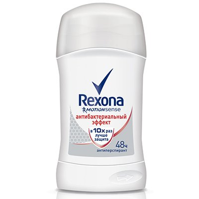 Rexona Антиперспирант-карандаш женский Антибактериальный эффект 40мл - РексонаДезодоранты и парфюмерия<br>Подавляет размножение болезнетворных бактерий, защищает от запаха. Нейтральный аромат.<br>