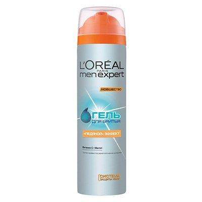 Гель для бритья Ледяной Эффект 200мл - LOreal Paris  Men Expert - ЛореальПены и гели для бритья<br>Утром ваша непроснувшаяся кожа подвергается еще и агрессивному воздействию бритвы.<br>