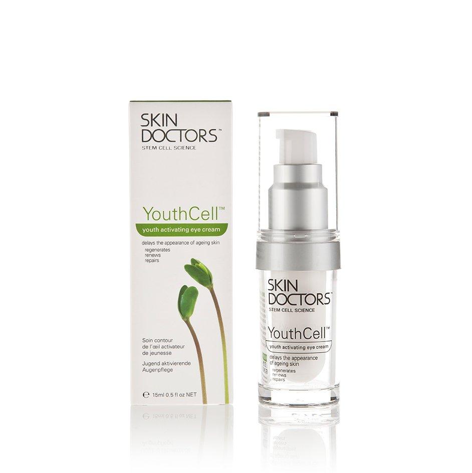 Skin Doctors YouthCell Eye Cream- Крем для кожи вокруг глаз со стволовыми клетками, активатор молодости, 15 мл - Скин ДокторсКремы для лица, рук и глаз<br>Распродажа 50%, срок годности до 31.05.2017 г. С растительными стволовыми клетками. За 4 недели применения до 37% разглаживает мимические морщины вокруг глаз.<br>