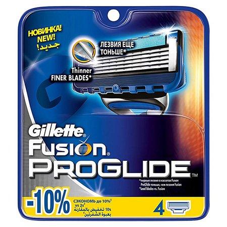 Gillette Fusion Proglide Сменные кассеты для бритья 4 штПены и гели для бритья<br>Подходят к бритвам Gillette Fusion и Gillette Fusion ProGlide/ProShield с технологией FlexBall. 5 лезвий, улучшенная технология скольжения, гелевая полоска с алоэ Вера<br>