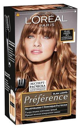 L'Oreal Paris Preference Краска для волос Глэм Лайт тон 3 40мл - Лореаль Преферанс
