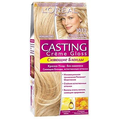 Крем-краска для волос тон 1013 светлый светло-русый бежевый - L'Oreal Paris Casting Creme Gloss - Лореаль