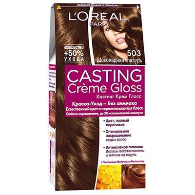 Крем-краска для волос тон 503 Шоколадная глазурь - L'Oreal Paris Casting Creme Gloss - Лореаль