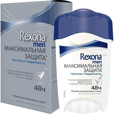 Rexona Антиперспирант-крем мужской Максимальная защита Чистота и Уверенность 45мл - Рексона MEN