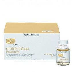 Интенсивная протеиновая сыворотка для восстановления поврежденных волос 6*20 мл - Selective On Care Nutrition Protein Infuse Treatment - Селектив (Selective Professional)