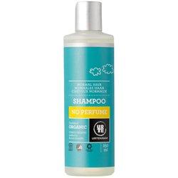 Шампунь бессульфатный  гипоалергенный для нормальных волос с глицерином без аромата. Urtekram, 250 мл