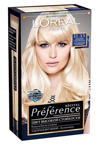 L'Oreal Paris Preference Краска для волос тон 11.13 ультраблонд бежевый 40мл - Лореаль Преферанс