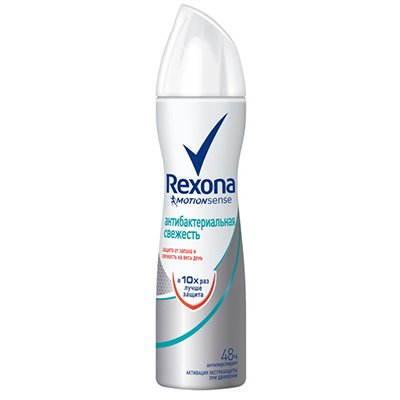 Rexona Антиперспирант аэрозоль женский Антибактериальная свежесть 150мл - Рексона