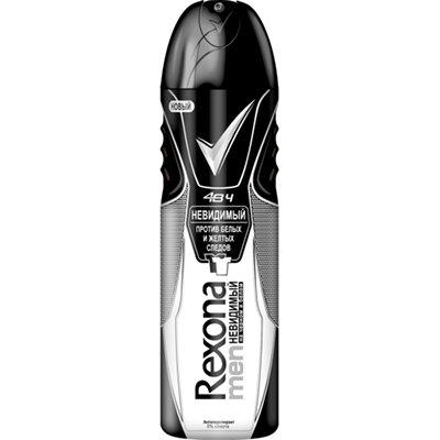 Rexona Антиперспирант аэрозоль мужской Невидимый на черном и белом 150мл - Рексона MEN