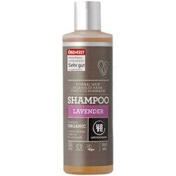 Шампунь бессульфатный  увлажняющий для нормальных волос Лаванда. Urtekram, 250 мл