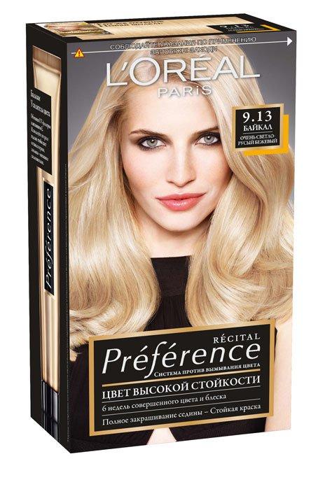 LOreal Paris  Preference Краска для волос тон 9.13 Байкал 40мл - Лореаль Преферанс